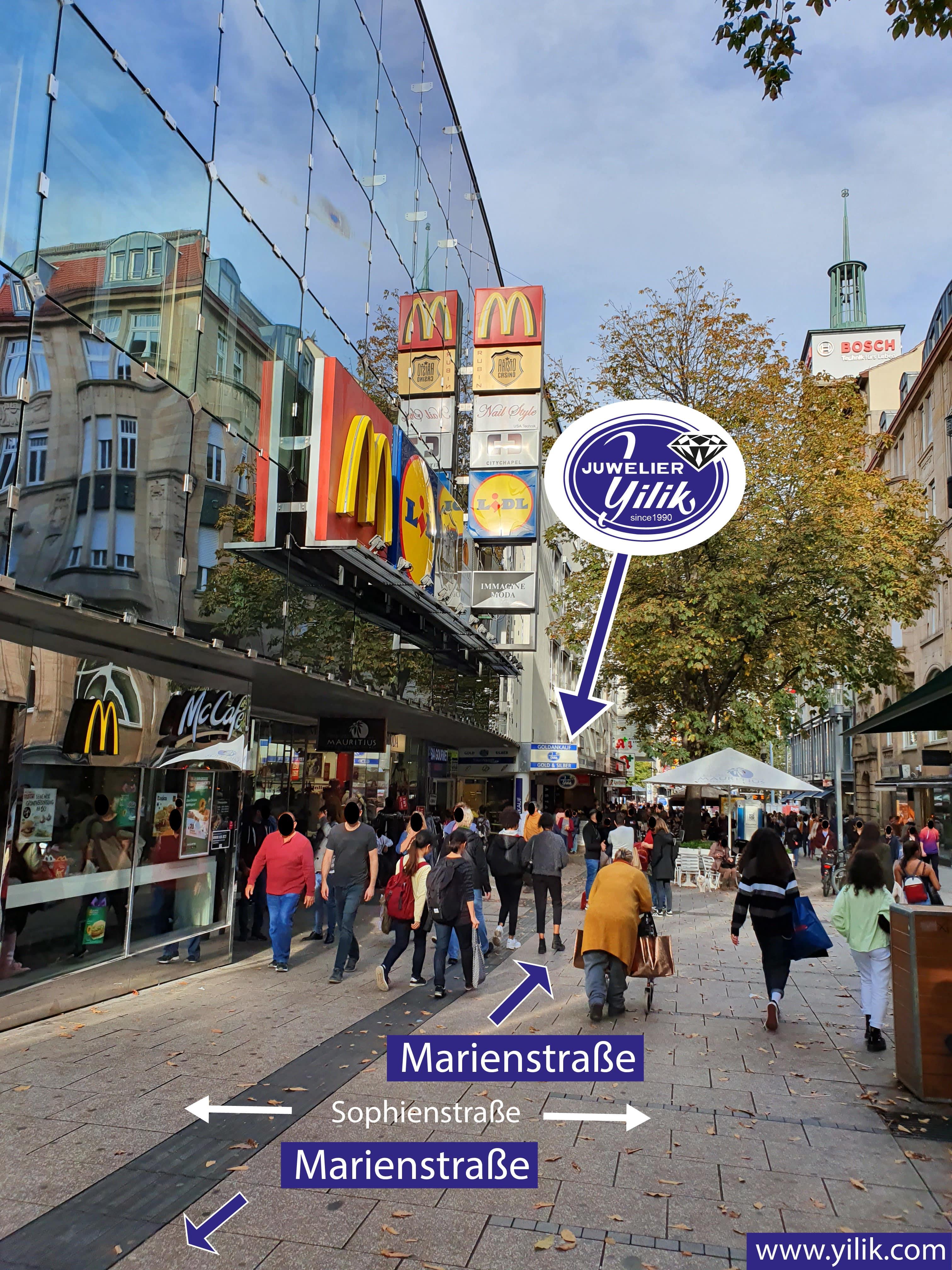 Marienstraße in Richtung Königstraße